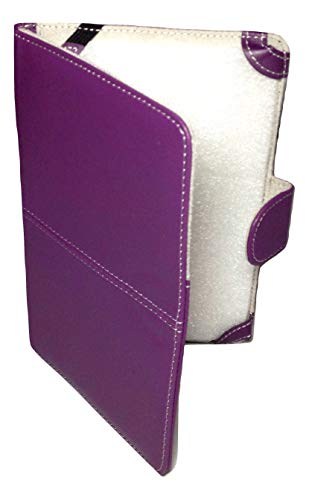 Classic Purple Faux Leather Kindle 3 Keyboard Case Cover 8