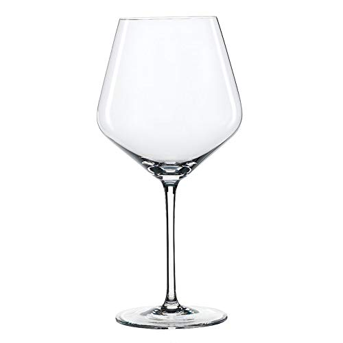 Spiegelau Style Burgundy Wine Glasses - (Set of 4, Clear Crystal)