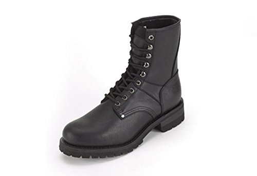 Billys Biker Gear Men's Wide Leather Motorcycle Boots With Front Laces Size 13-1/2 EE