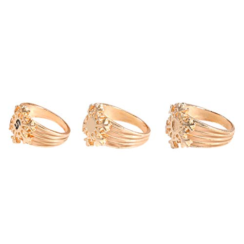 (Fashion plated snowflake kc gold ring set)