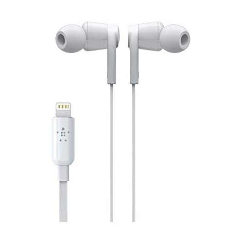 chollos oferta descuentos barato Belkin Rockstar Auriculares para iPhone con Conector Lightning Intra Auriculares diseñados para iPhone 11 11 Pro Pro MAX XS XS MAX XR 8 8 Plus Negro