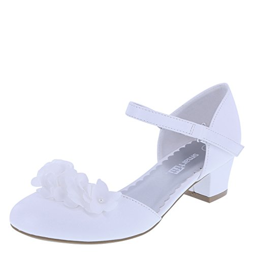 First Communion Shoes White - SmartFit Girls' White Girls' Cici Flower