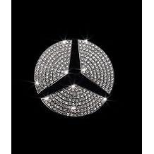 Exotic Store Crystal Rhinestone Bling Insert Steering Wheel Center Logo Emblem Badge For Mercedes-Benz A, B,C, E, S, CLA, GLA, GL, ML, GLE, GLC,GLK Class Emblem (For 45 mm Diameter)