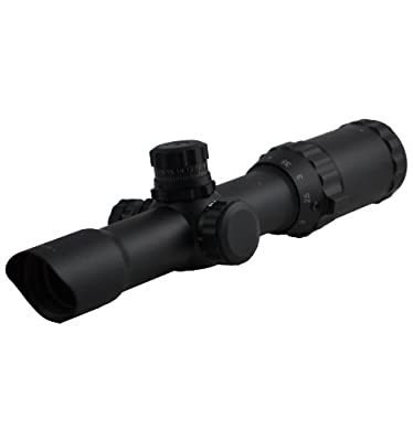 SNIPER Rifle SCOPE 1-4X28, Compact Scope, Horse shoe, One Piece, Black Matte Finish, Quick Lock and Adjustment by SNIPER