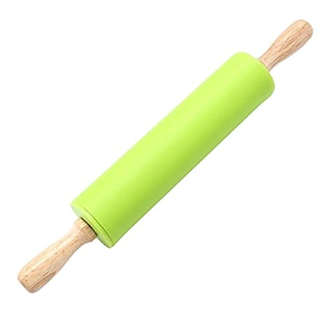 Non-stick Rolling Pin Wood Dough Roller Classic for Baking Cookie Pastry Pizza