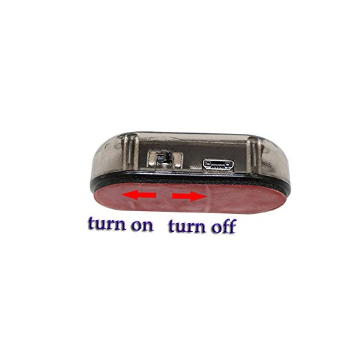 Lenmumu Fake Car Alarm Light, Dummy Car Alarm Solar Power