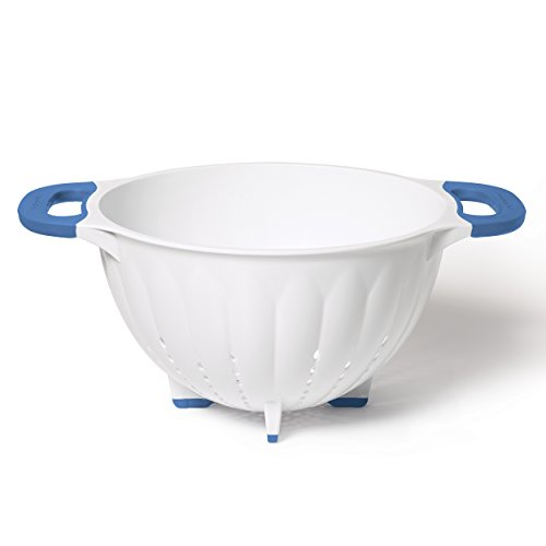 (KitchenAid Plastic Strainer/Colander, 5-Quart, Ocean Blue )