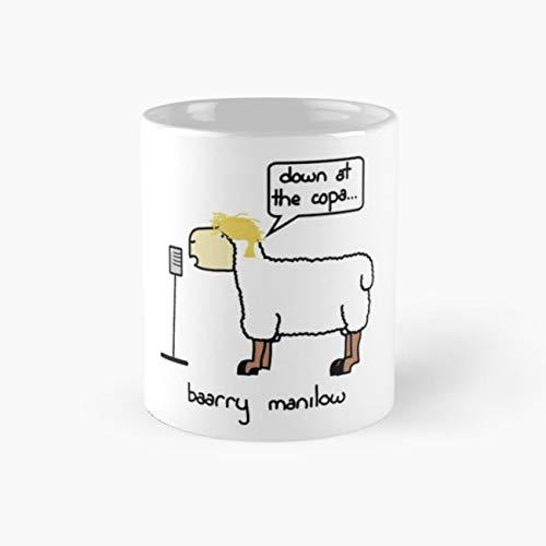 baarry manilow Mug, baarry manilow Funny Mugs, 11 Ounce Ceramic Mug, Perfect Novelty Gift Mug, Tea Cups, Funny Coffee Mug 11oz, Tea Mugs ()
