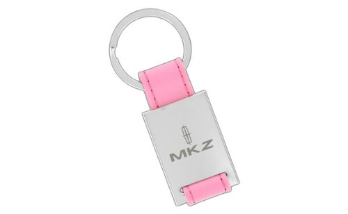 Lincoln MKZ Pink Leather Rectangle Key Chain Keychain Fob Baronlfi