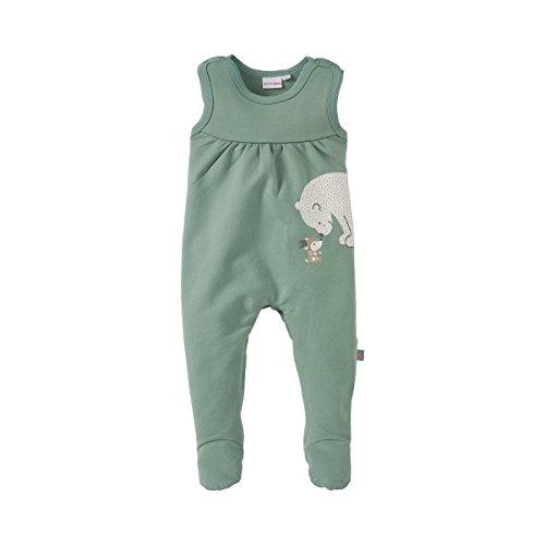 BORNINO Sweat-Strampler Baby Strampelanzug, Größe 74/80, grün