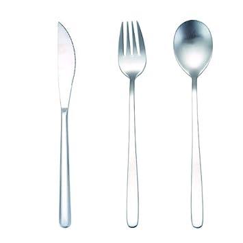 Amazon.com: Dinnerware - Juego de cubiertos de acero ...