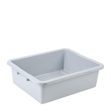 Rubbermaid Commercial Bus Box Grey 17  x 22  x 7