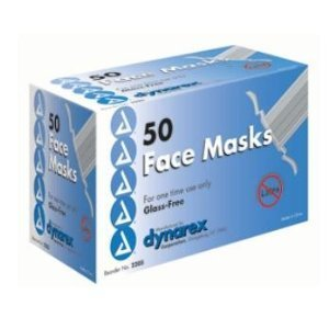 Blue Pleated Surgical Face Mask Tie On Glass Free Filter - 5
