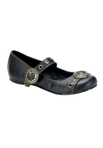 - Demonia by Pleaser Women's Daisy-09 Mary-Jane Flat,Black Polyurethane,11 M US