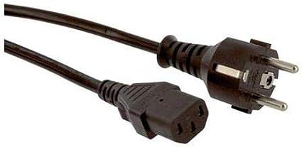 Black 2 m Pack of 5 17850 10 250 VAC Mains Power Cord 17850 10 CEE 7//7 Plug IEC 60320 C13 10 A
