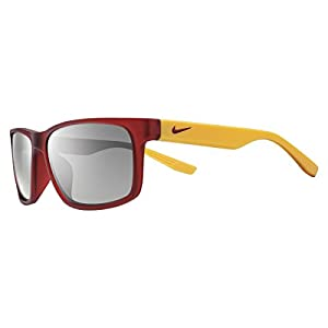 Nike Cruiser Team EV0893 Sunglass 670 Matte Red/Gold Frame Silver Lenses Size 59-16