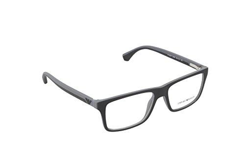 Emporio Armani EA 3034 Men's Eyeglasses Black / Rubber Grey - Glasses Mens Emporio Armani