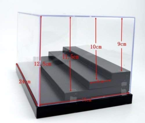 TGSEA 4 Steps Clear UV Acrylic/Plastic Display Box Case Dustproof Tray Protection