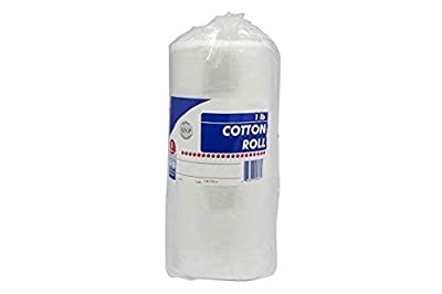 Cotton Roll. 1 Roll of Non-sterile cotton for wound care. Soft and absorbent, 100% cotton. Re-sealable drawstring polybag. White, single use, latex-free.
