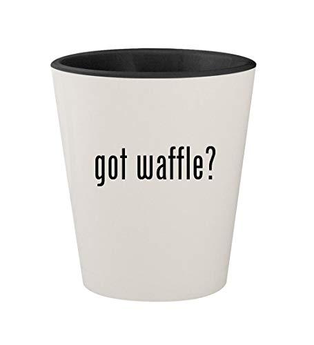 got waffle? - Ceramic White Outer & Black Inner 1.5oz Shot G
