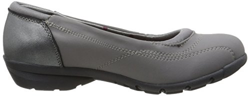 Skechers carriã ¨ re First Impression Flat Ballet Negro - Charcoal Leather