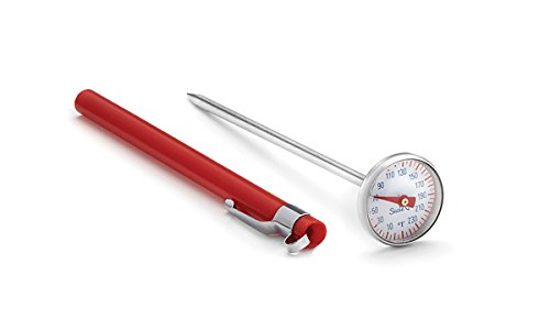 Suzie Q 60517 Retro Instant Thermometer, Stainless Steel and Plastic, Apple Red