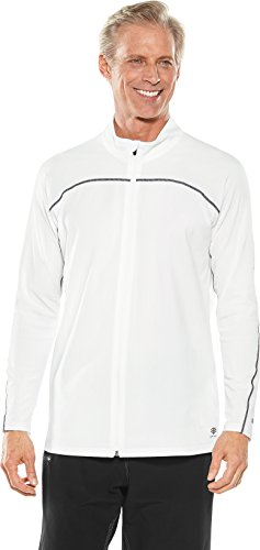 Long Sleeve Jacket (Coolibar UPF 50+ Men's Long Sleeve Water Jacket - Sun Protective (Medium- White))