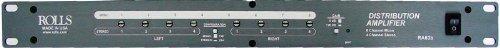 Amplifier Stereo Balanced Audio Distribution (ROLLS RA63b Eight Channel Audio Distribution Amplifier, Rack Mountable)