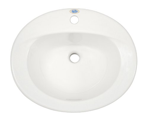 TOTO Lt511G#01 Supreme 1-Hole Self Rimming Sanagloss Lavatory, Cotton ()