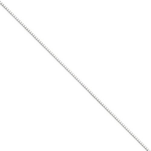 1.25mm Sterling Silver, Box Chain Necklace, 18 Inch