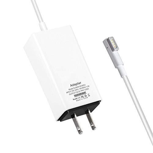 60W Mini Charger for Apple MAC MacBook Pro 13 inch with Retina Display (Late 2009 to Mid 2012),Replacement for Magsafe 1 L-tip Portable AC Power Adapter