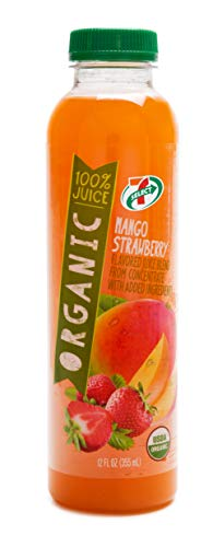 7-Select 100% Organic Juice, Mango Strawberry, 12 Ounce Bottles (15-pack)