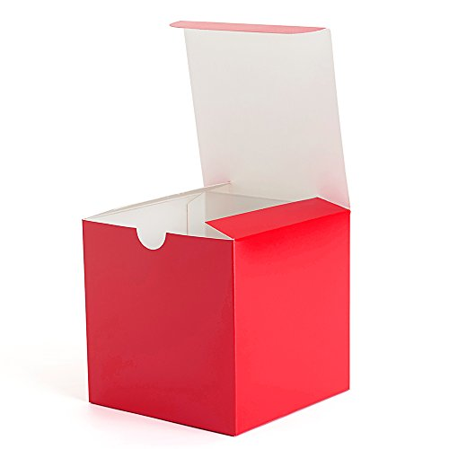 MESHA Gift Boxes Colored Paper Gift Boxes with Lids for Gifts, Crafting, Cupcake Boxes (4x4x4) ()