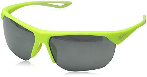 Nike EV1063-770 Trainer S Frame Grey with Silver Mirror Lens Sunglasses, Matte Volt/Barely Volt