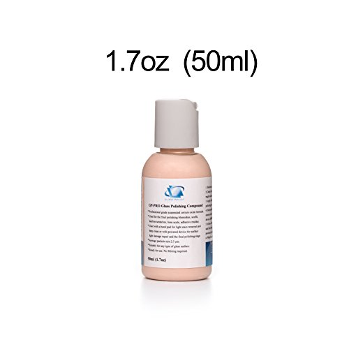 GP14053 GP-PRO Professional Grade Glass Polishing Compound, Glass Polishing Solution 1.7oz - Repair Scratched Can Glass You