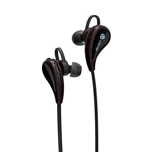 Price comparison product image iClever Lightweight Bluetooth Headphones, Quick and Stable Pairing Wireless Earphones Bluetooth V4.1 with Microphone, Sweat-resistant for Running, Sport, Outdoors, at Home