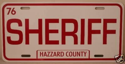 ROSCO DUKES of HAZZARD COUNTY METAL LICENSE PLATE TAG 6 X 12 COLTRANE SHERIFF Fan Redneck Southern Rebel South Moonshine COLLECTION MUSEUM GIFT NOVELTY SIGN GARAGE SHOP BAR MAN CAVE CLASSIC