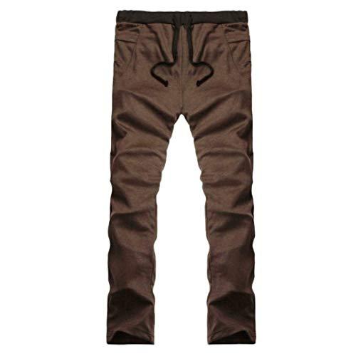 Eastery Fit Pantalons De Cordon Hommes Solide Serrage 2018 Café Décontracté Avec Simple Sport Long Slim Style Jogging Survêtement Pantalon SBSHrFxqw
