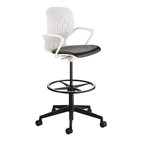 Safco Products 7014WH Shell Chair, Extended Height, White