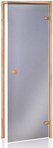 ECO Saunat/ür ECO 60x190 Rahmen Grau Erle Glasfarbe