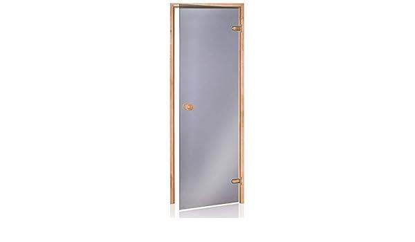 Glass House Eco Puertas De Sauna 70 X 200 | Color De Cristal: Gris | Material De Montura: Aliso: Amazon.es: Hogar
