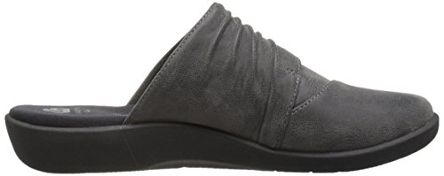 Clarks Frauen Sillian Rhodes Mule Graues synthetisches Nubuk