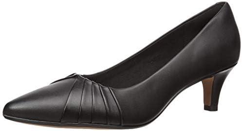 Clarks Women's Linvale Crown Pump Color: Black Leather Size 7.5