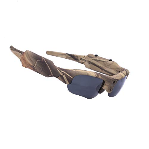 OHO 15MP Video Sunglasses, 16GB 1080i HD Outdoor Sports Action Camera for Hunting with Built in 15MP Wide Angle Camera and Polarized UV400 Protection Safety Lenses (camo720P)