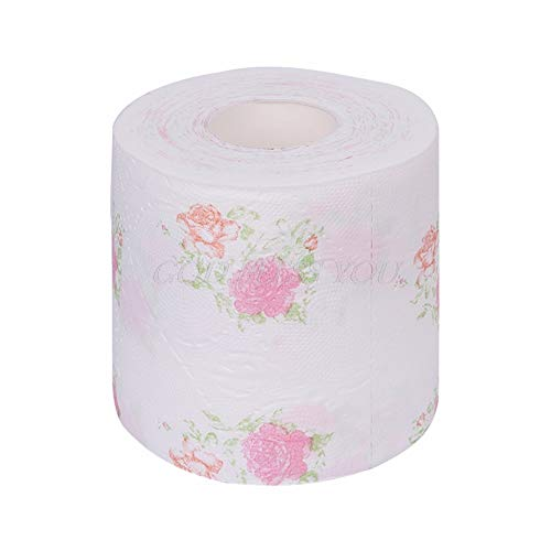 (BKID Flower Floral Toilet Paper Soft Toilet Paper 240 Sheets of Rwo Ply Printed Toilet Paper (1))