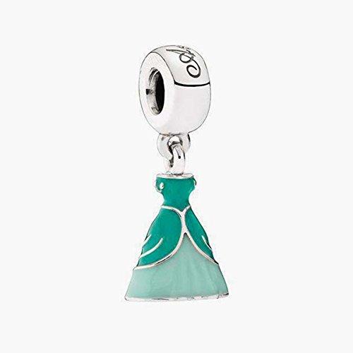 Price comparison product image Selina Fit Pandora Bracelet Authentic Genuine S925 Sterling Silver Disney Ariel Green Dress Bead 791577ENMX