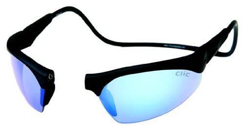 Clic Sunglasses - Clic Sunglass II / Frame: Black Lens: Grey Polarized or Brilliant Blue - Clics Sunglasses