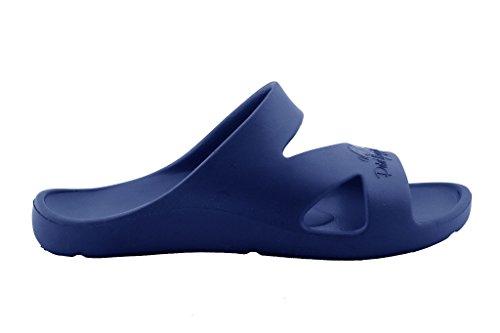 Pour Peter Legwood Femme Foncé Mules Bleu Eq06nRq8