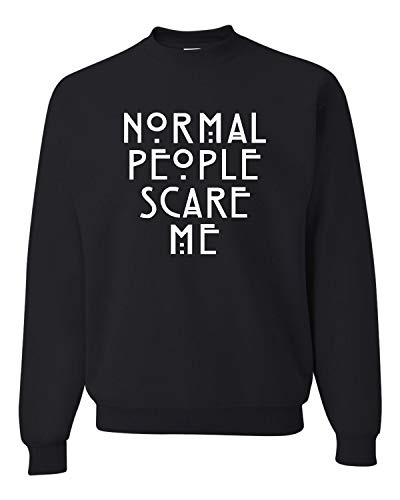 Go All Out XX-Large Black Adult Normal People Scare Me Sweatshirt Crewneck