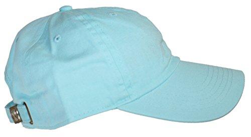 Ted and Jack - Oceanside Solid Color Adjustable Baseball Cap (Aqua)
